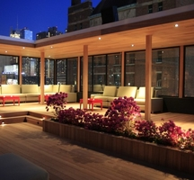 Hudson terrace night nyc