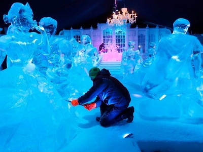 Central park ice festival