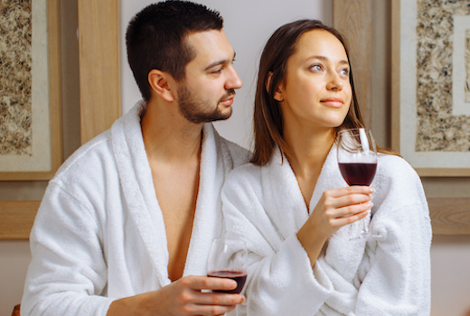 The couples spa wine