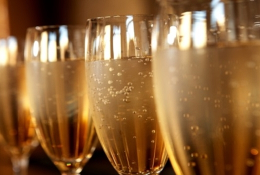 Champagne flute party