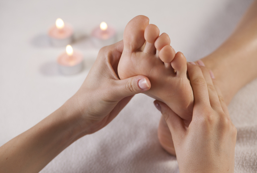 La peau day spa foot massage