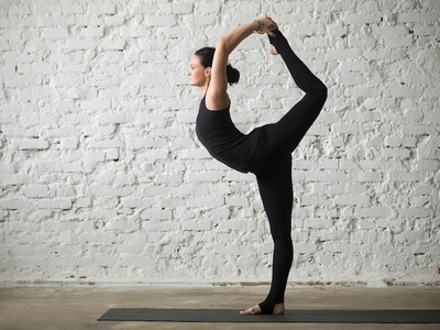 Dharma yoga pose stretch
