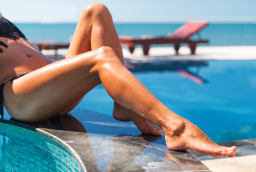 Laser hair removal legs smooth