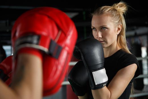 Moxie life woman boxing