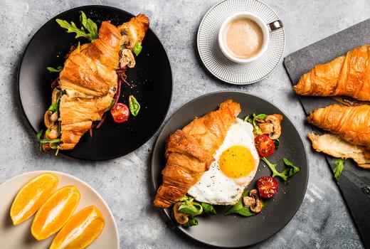 The bari croissant coffee