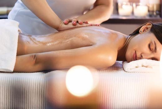 Candy spa massage