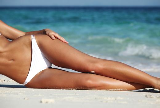Ladies and gents beach bikini