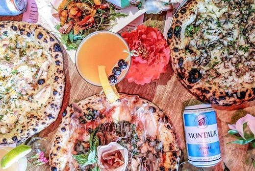 Woodstock pizza beers