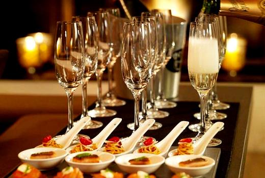 Flute fest main open champagne food