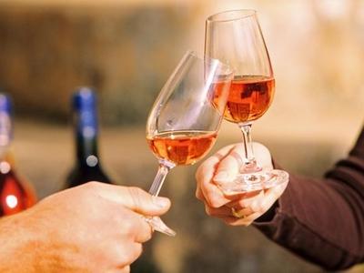 Wine cheers tasting