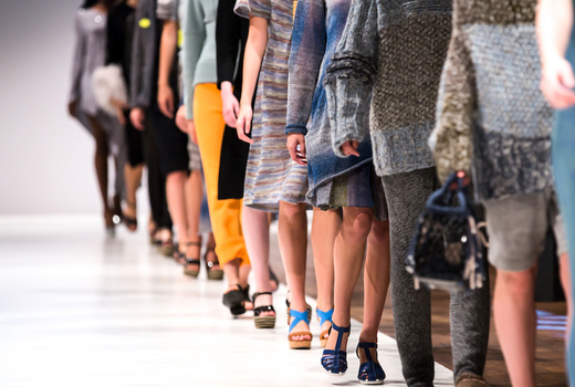 Couture fashion week runway legs walk