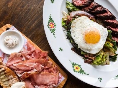 Osteria morini steak eggs more