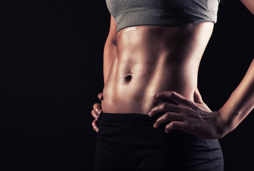 Slim up lady abs