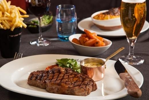 The village lantern steak poivre spread nyc