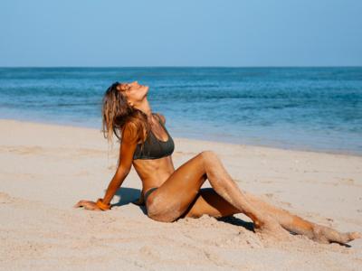 Step up skin laser woman beach