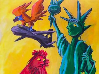 Art reception painting