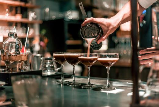 Edible manhattan good spirits espresso martini pour
