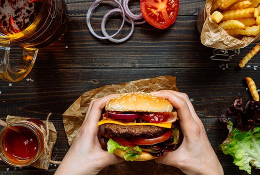 Wicked willys burger beer fries