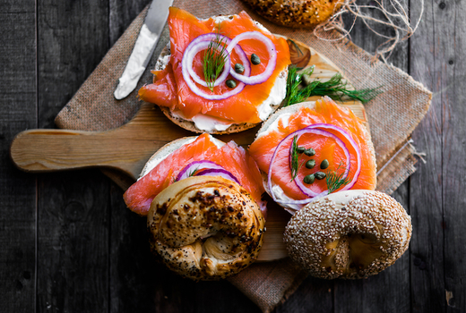 Davidovich bakery lox bagel capers onions
