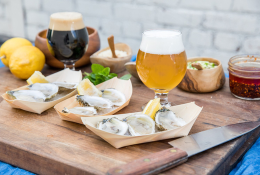 Craft beer festival oysters