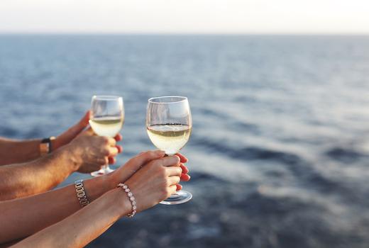 Manhattan by sail wine boat water ocean
