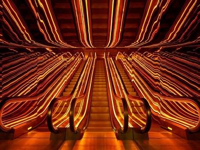 Public hotel neon lights