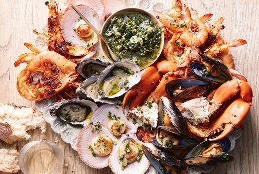 Pomona seafood platter clams eats