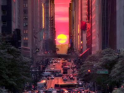 Manhattanhenge new york city