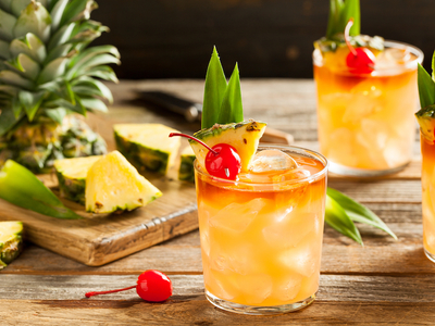 Rum party cocktail