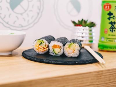 National sushi rolls