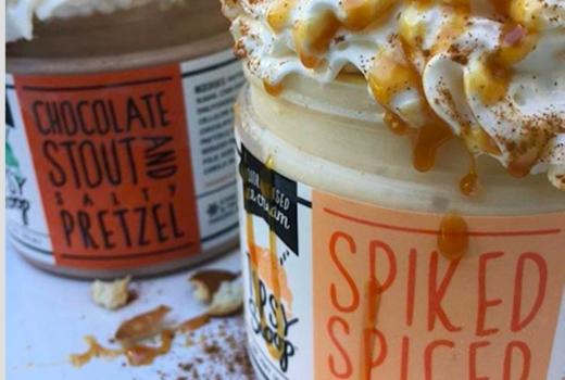 Tipsy scoop pumpkin pie