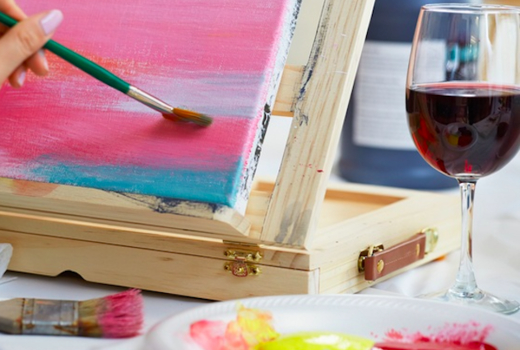 La pittura wine sip drink paint