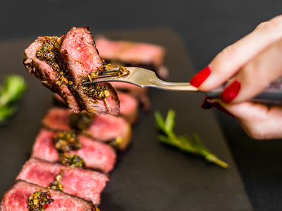 Balvanera steak sauce red juicy yum