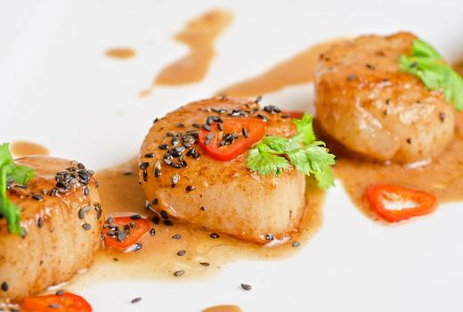 Benares indian food scallops fish