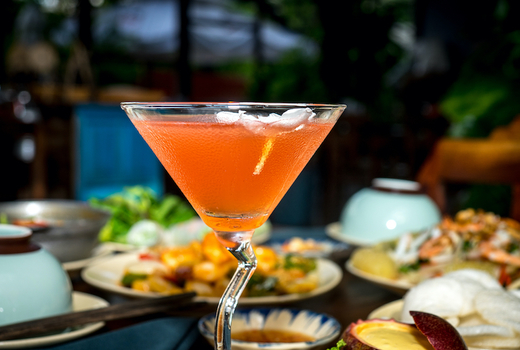 Benares outside cocktail
