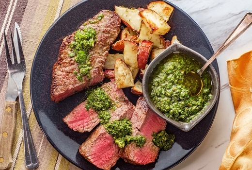 Parish steak chimi sauce wow