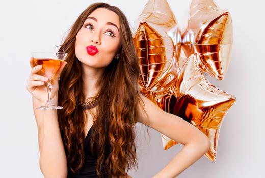 Sip shop eat woman drinking balloons