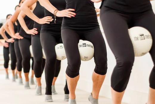 Bar method ball legs tone muscles