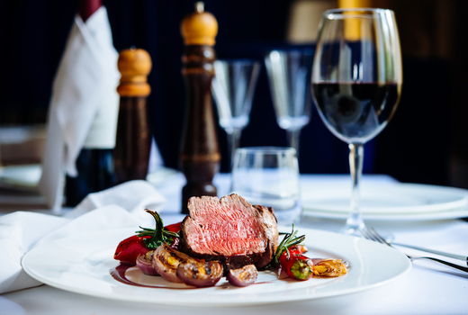 Marble downtown steak wine glass delicious1