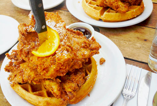 The stand brunch chicken waffles wow