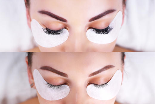 Lash perfection before after lash extensions