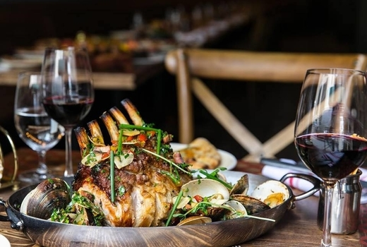 Woodpecker david burke lamb chop wine