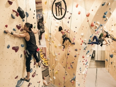 Brooklyn boulders climbing inside queensbridge cool