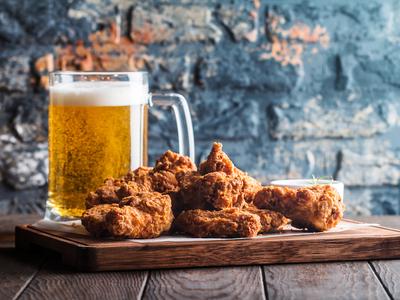 Wings brews beer gold room