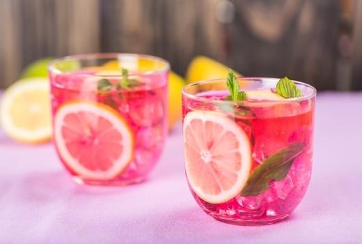 Sip shop eat drinks cocktails pink