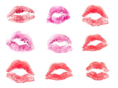 Kiss lipstick rouge