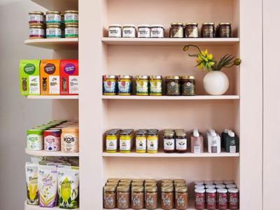 Pop up grocer inside