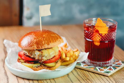 Bourbon burgers eats drinks love