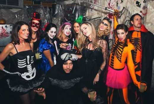 Wicked willys halloween group drinking fun