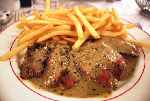 Tara rose steak poivre